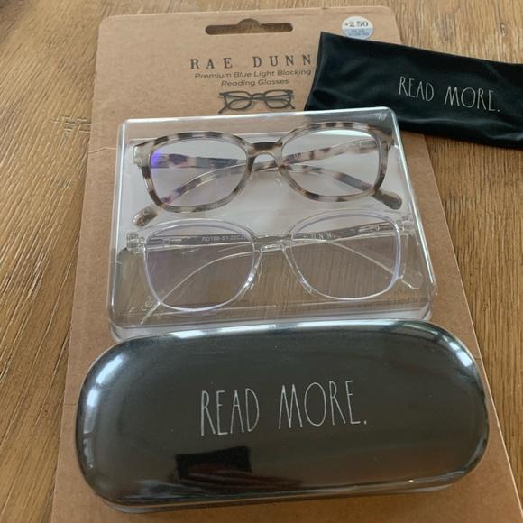 Rae Dunn premium reading glasses READ MORE case
